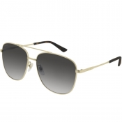 Gucci GG0410SK 003 Aviator Sunglasses Gold